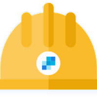 Illustration of a hardhat with the SendGrid logo